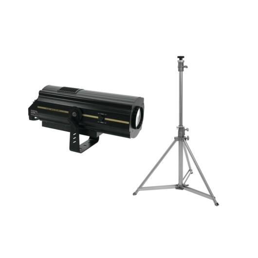 EUROLITE Set LED SL-350 DMX Search Light + STV-200 Follow spot stand, stainless steel