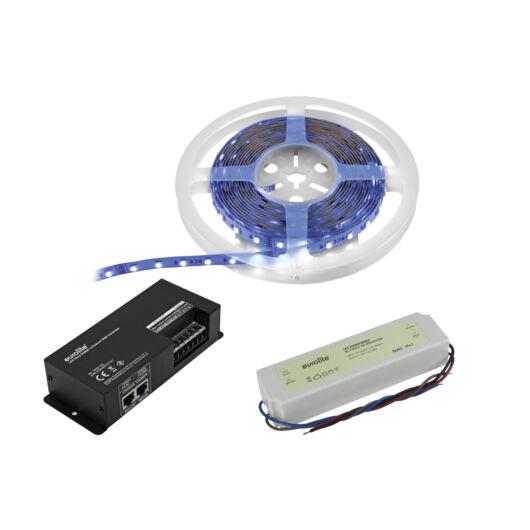 EUROLITE Set LED Strip RGBWW 5m + DMX Controller + Transformer 24V